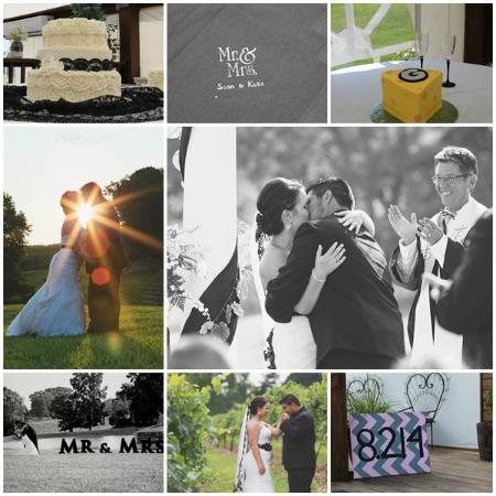 Eubank, KY: Vineyard Wedding Black & White