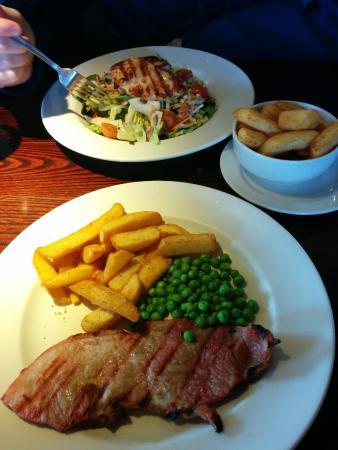 Crooked Lum: Gammon Steak & Chicken Salad