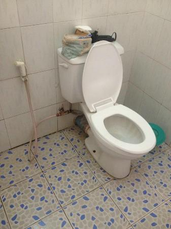 Leaking toilet - Picture of Golden Myanmar Guest House