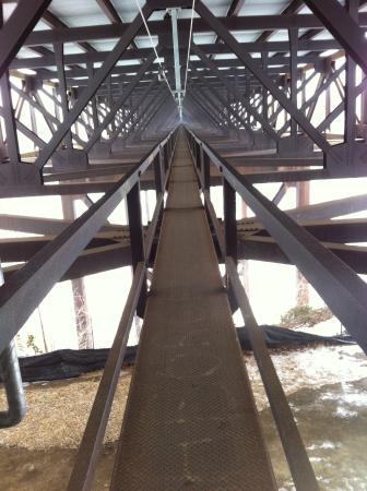 Bridge Walk- New River Gorge Bridge: The cat walk under the New River Gorge Bridge