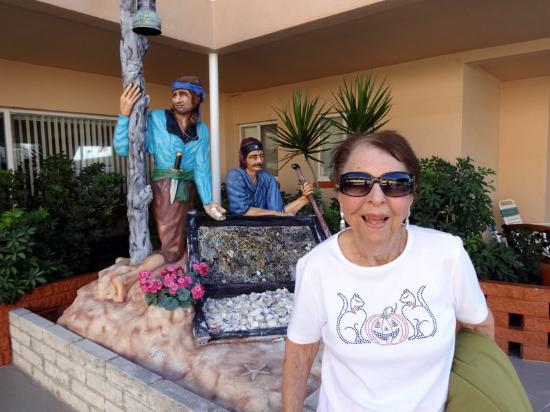 Sea Chest Motel : Mom by the Pirates...she passed this year...many great memories of our time together there!!