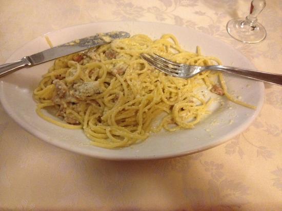 Nido d'Abruzzo: Spaghetti alla carbonara