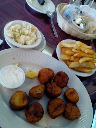 Shrimp King Restaurant & Seafood Market: Seasonless scallops