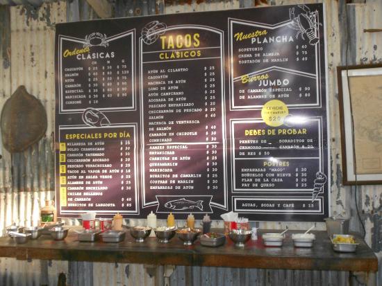 Tacos Marco Antonio : menu items