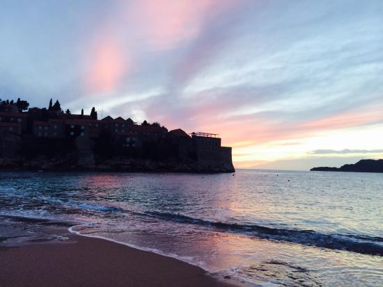 Sunset Hotel Adrovic - Sveti Stefan  beach . Holiday with sea view. Luxury travel and escape www