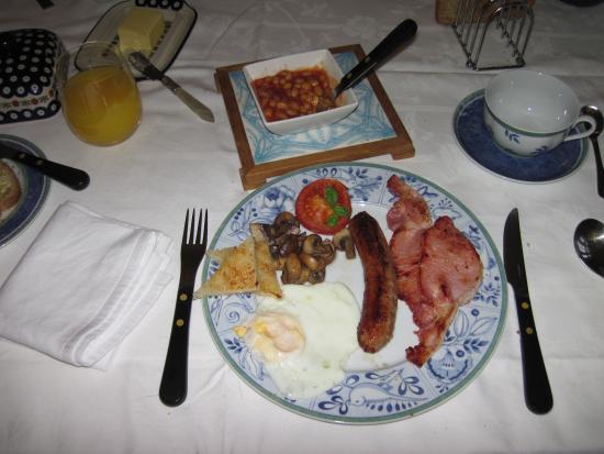 Glan y Dwr Bed & Breakfast: My amazing cooked breakfast (26/Feb/15).