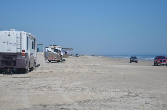 Padre Island National Seas Camping On The Beach