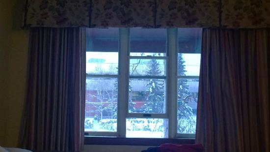Regency Fairbanks Hotel : View from our window.  AWESOME for Southern people who don't see snow.