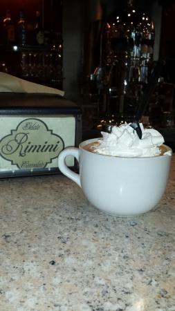 Rimini : Hot chocolate.  Very good.