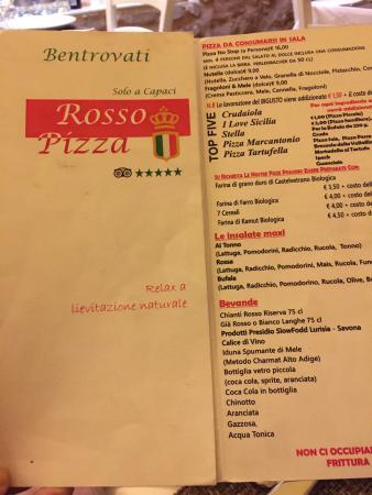 Capaci, Italy: Menu