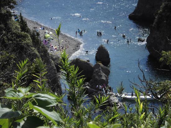 Kumomi, Ishibu, Iwachi, Matsuzaki Beach: ビジターセンター駐車場より