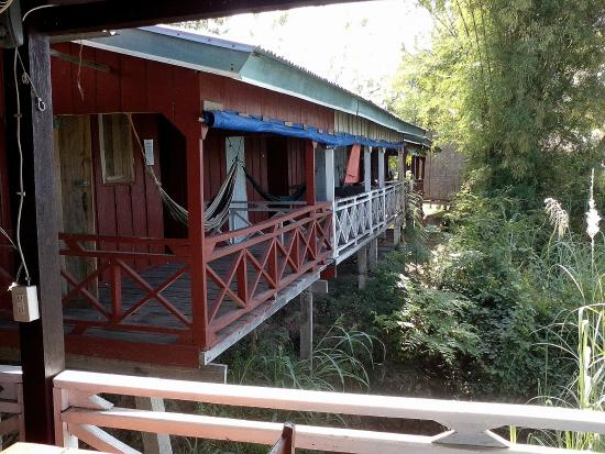 Vixay Guest House: from Vixay's terrace: a few of the cabins