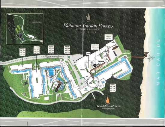 Resort Map  Yucatan Princess  Picture of Platinum Yucatan