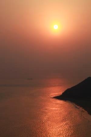 Koijigahama : 夕日の伊良湖岬と恋路ヶ浜