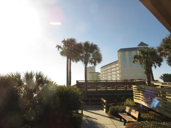 """Royal Floridian Resort : A shot of the hotel from the """"Birthplace of Speed"""" !"""