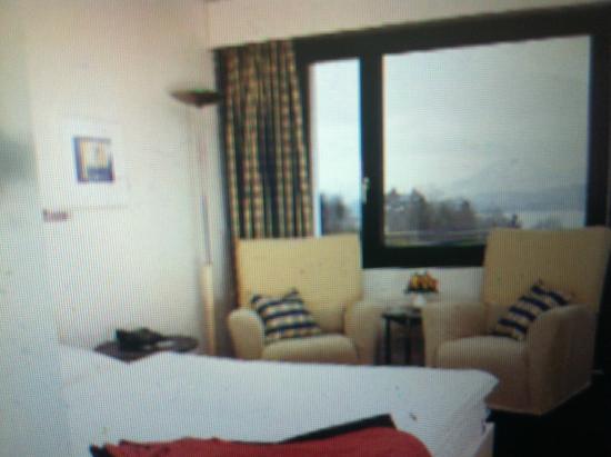 Hotel Restaurant Guggital: Номер с видом на озеро