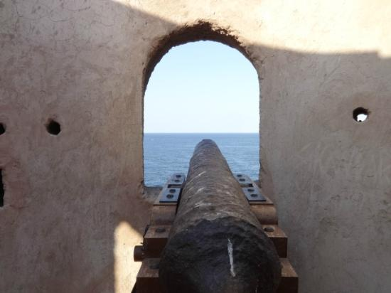 Watchtower: Looking out to sea with the canon.