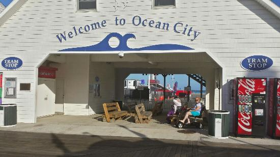 Ocean City Boardwalk: Near the south end of the bordwalk OC MD