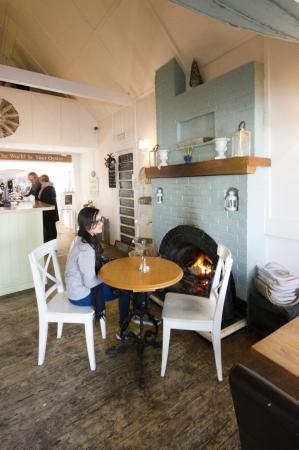 The Coast Inn: my friend keeping the fire warm for me