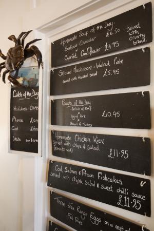 The Coast Inn: specials board