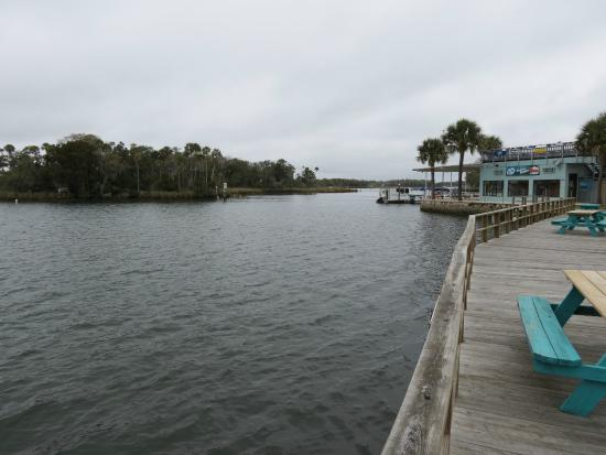 The Port Hotel and Marina: View north from the deck area at the rear of the Bldg A room