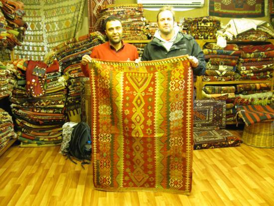 Kervan Carpet & Kilim: myself and owner