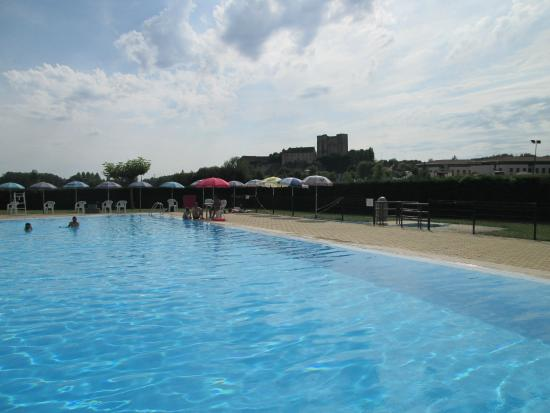vue from the piscine municipale of the Chateau d'Excideuil
