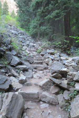 Hanging Lake Trail: Section of Trail - Fairly Steep