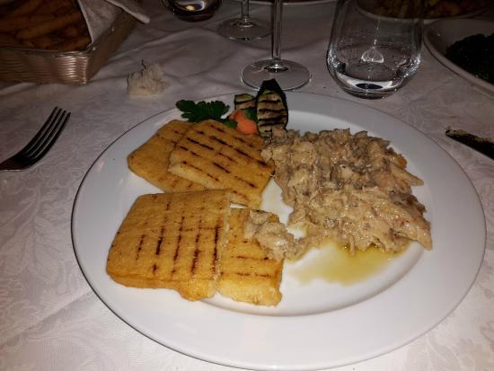 Antica Osteria Corte Calcina: Baccala' con polenta