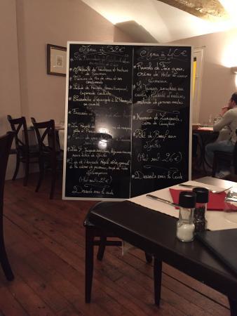 Le Bouchon Provencal : Carte du soir