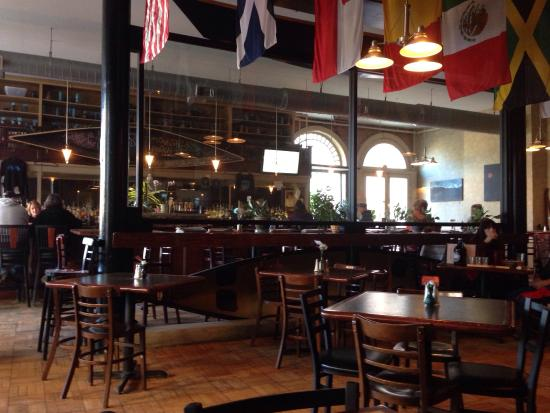 The Blue Canoe Brewery: Atmosphere. Is fun for dining