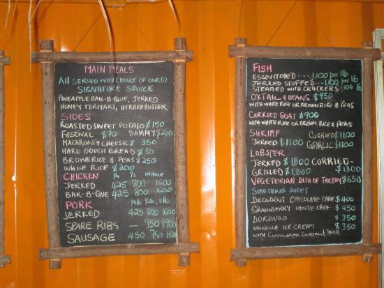 MVP Smokehouse: Their menu