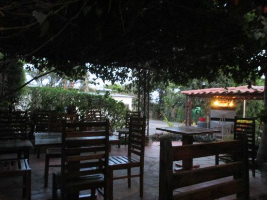 Casita Margarita: Our breakfast spot on the patio