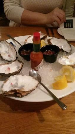 Loch Fyne: the remains of the lovely oysters......