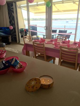 Noosa Harbour Resort: Nanna's 65th birthday celebration in U35. More than comfortable to host 8 adults and 7 kids. All