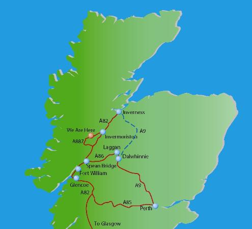 Binnilidh Mhor: Our Location in the Beautiful Highlands of Scotland