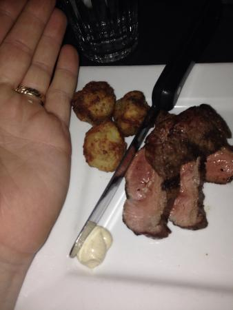 McEwen's On Monroe: My cold miniature steak at Mcewens....