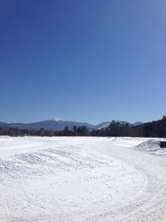 Sugar Hill, NH: The view from the barn.