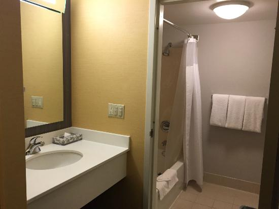 Courtyard San Francisco Airport/Oyster Point Waterfront: Bathroom small but clean and functional