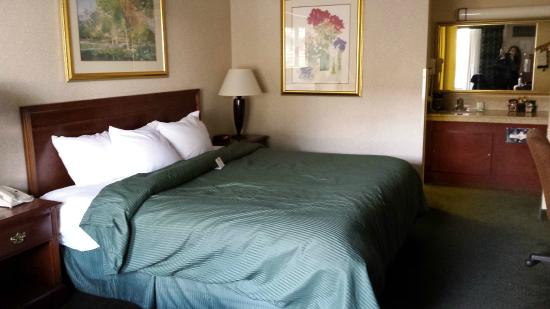 Clarion Inn: clean and comfortable king room