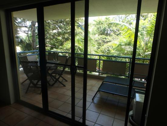 Byron Quarter Holiday Apartments: the balcony