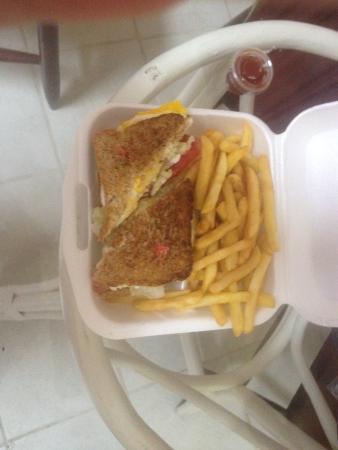 My Secret Deli : Their Club sandwich