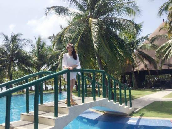 Cordova Reef Village Resort : プール 後ろはBar