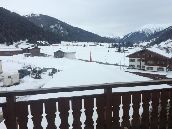 Hotel Alpenhof: Ausblick aus dem Fenster