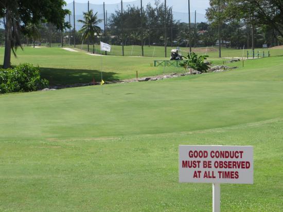Barbados Golf Club: 18th green