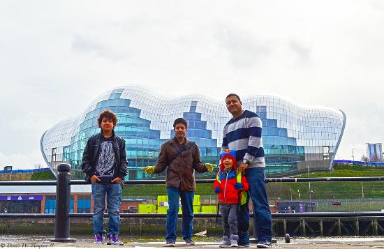 Newcastle and Gateshead, UK: The boys at the Sage Gateshead