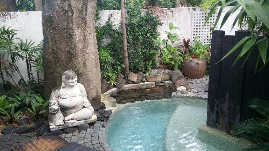 Buddha Gardens Day Spa: Heated outdoor buddha plunge pool