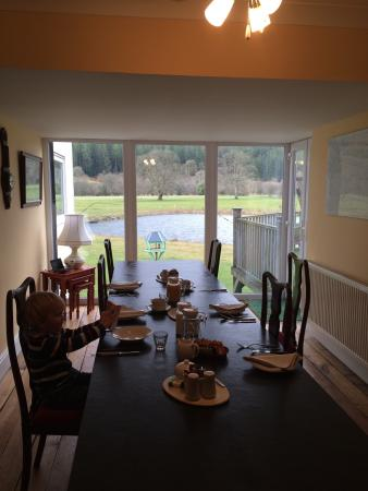 Dolanog, UK: Breakfast with a view