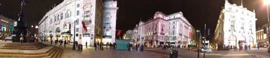 Piccadilly Circus: Panoramica noturna