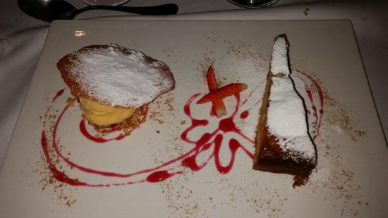 Infinit Restaurant: Pastel de Chocolate con helado de vainilla